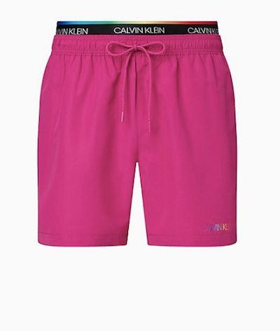 Calvin Klein Pride Double Waistband Swim Shorts