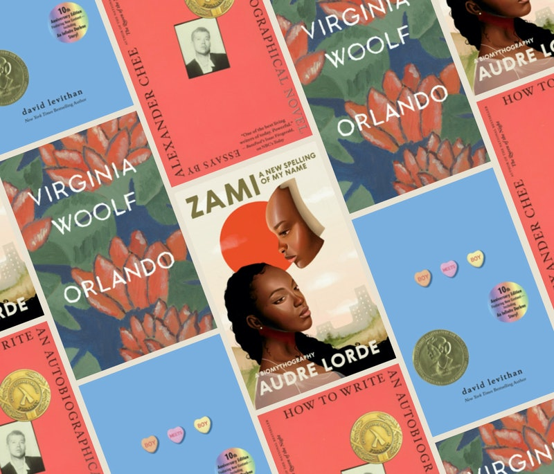 Among the books by LBGTQ authors on this list are 'Orlando,' 'Zami,' 'Boy Meets Boy,' and 'How to Write an Autobiographical Novel.'