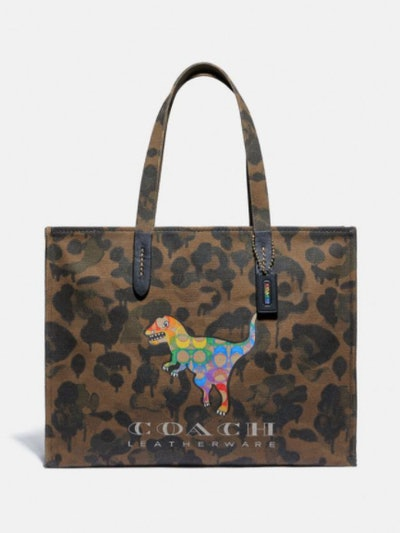 Coach Tote 42 With Rainbow Signature Rexy