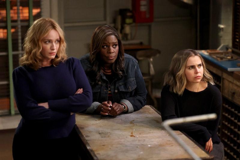 Christina Hendricks as Beth Boland, Retta as Ruby Hill, Mae Whitman as Annie Marks in 'Good Girls' S...