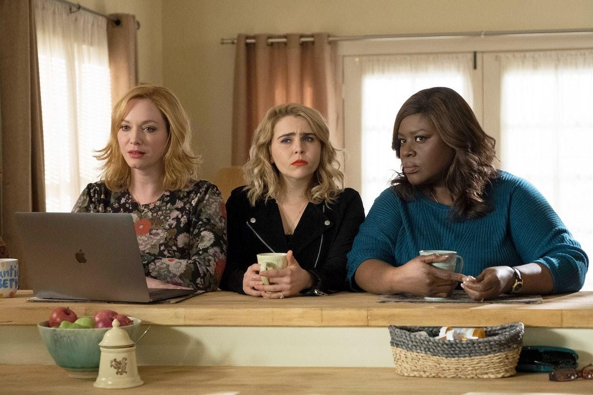 """Christina Hendricks, Retta, and Mae Whitman in """"Good Girls."""""""