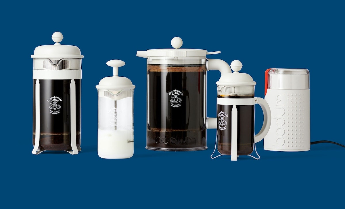 Charmberlain Coffee's Bodum collection has all the coffee tools you need.