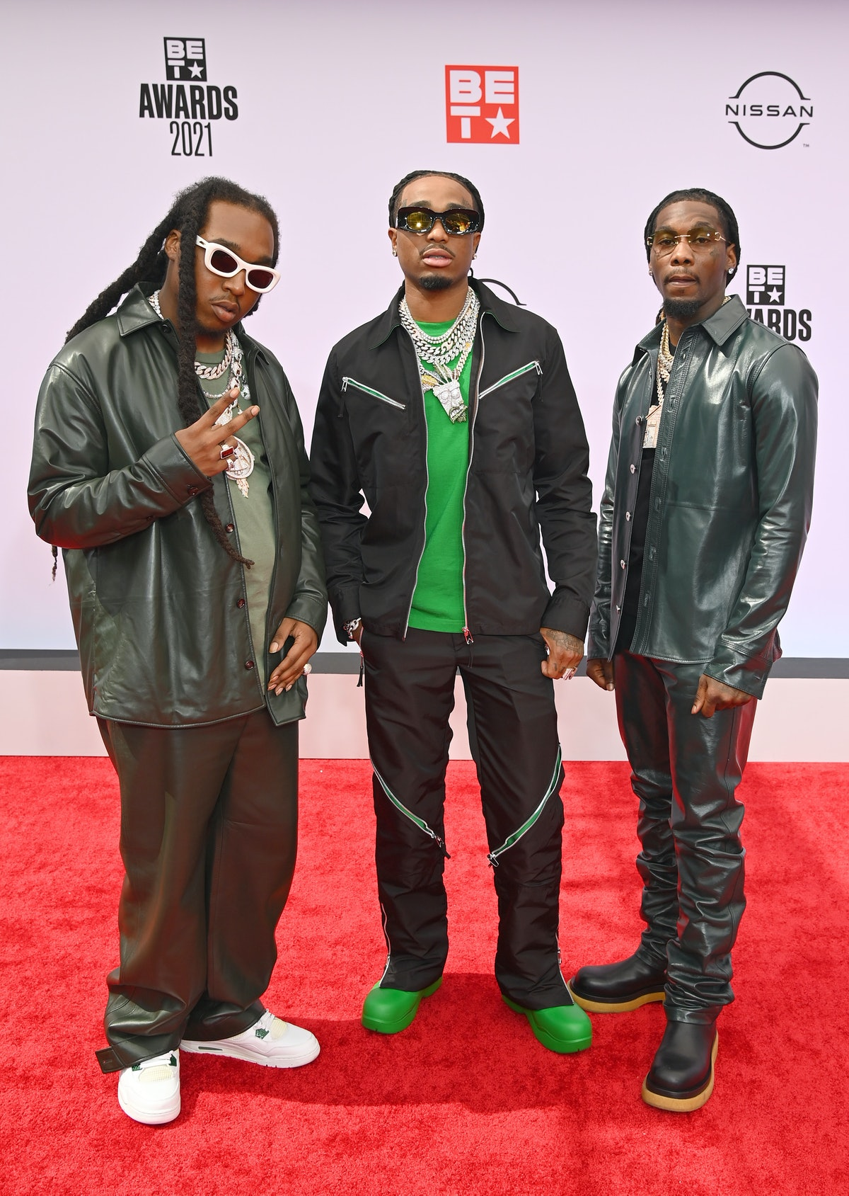 Takeoff, Quavos, and Offset at the 2021 BET Awards