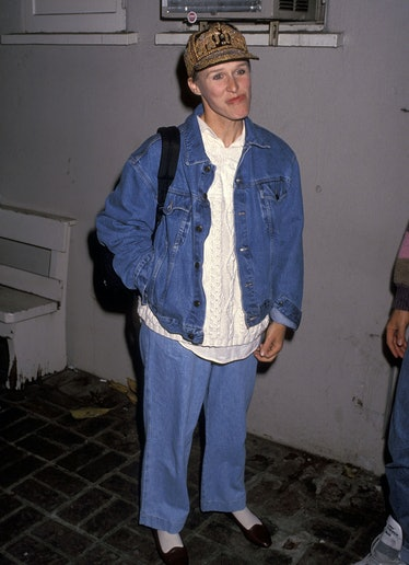 Glenn wears all denim