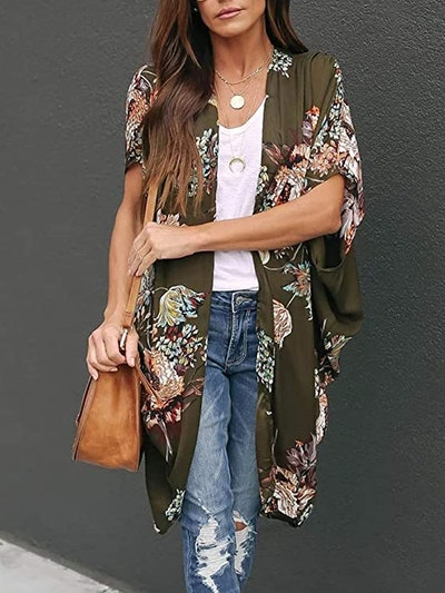Ivay Floral Kimono Duster Cardigan