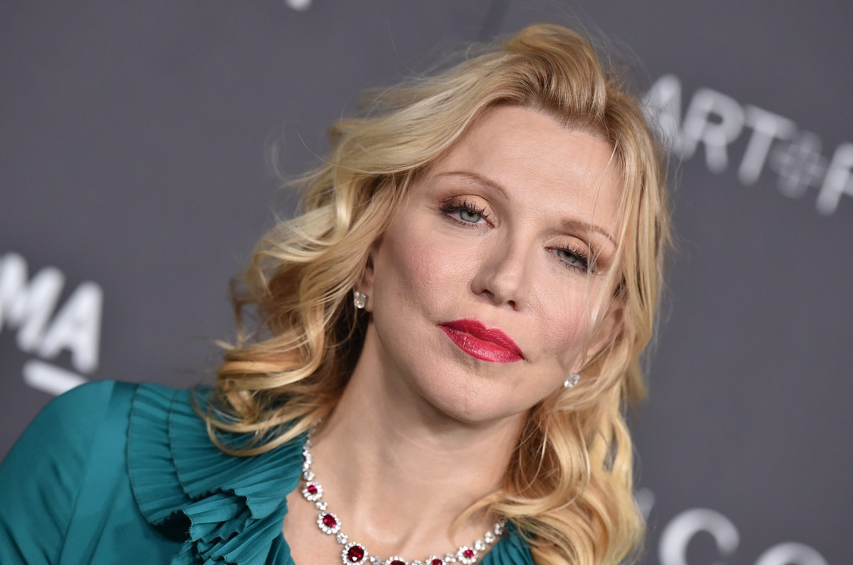 Courtney love in blouse.