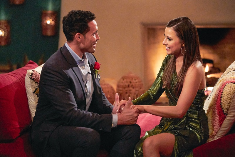 Thomas Jacobs and Katie Thurston having a one-on-one conversation during 'The Bachelorette'