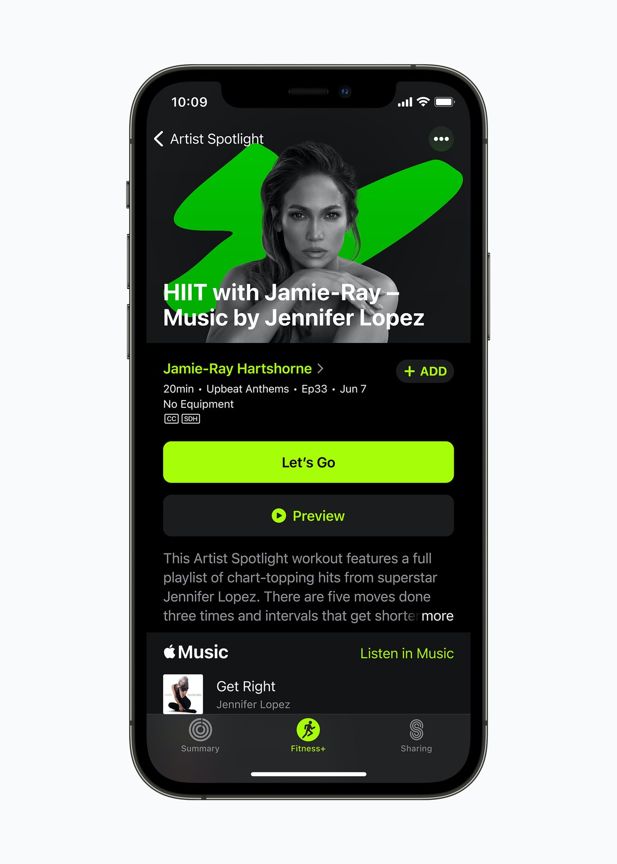 Here's where to find Apple Fitness+ Artist Spotlight workouts from stars like Jennifer Lopez.