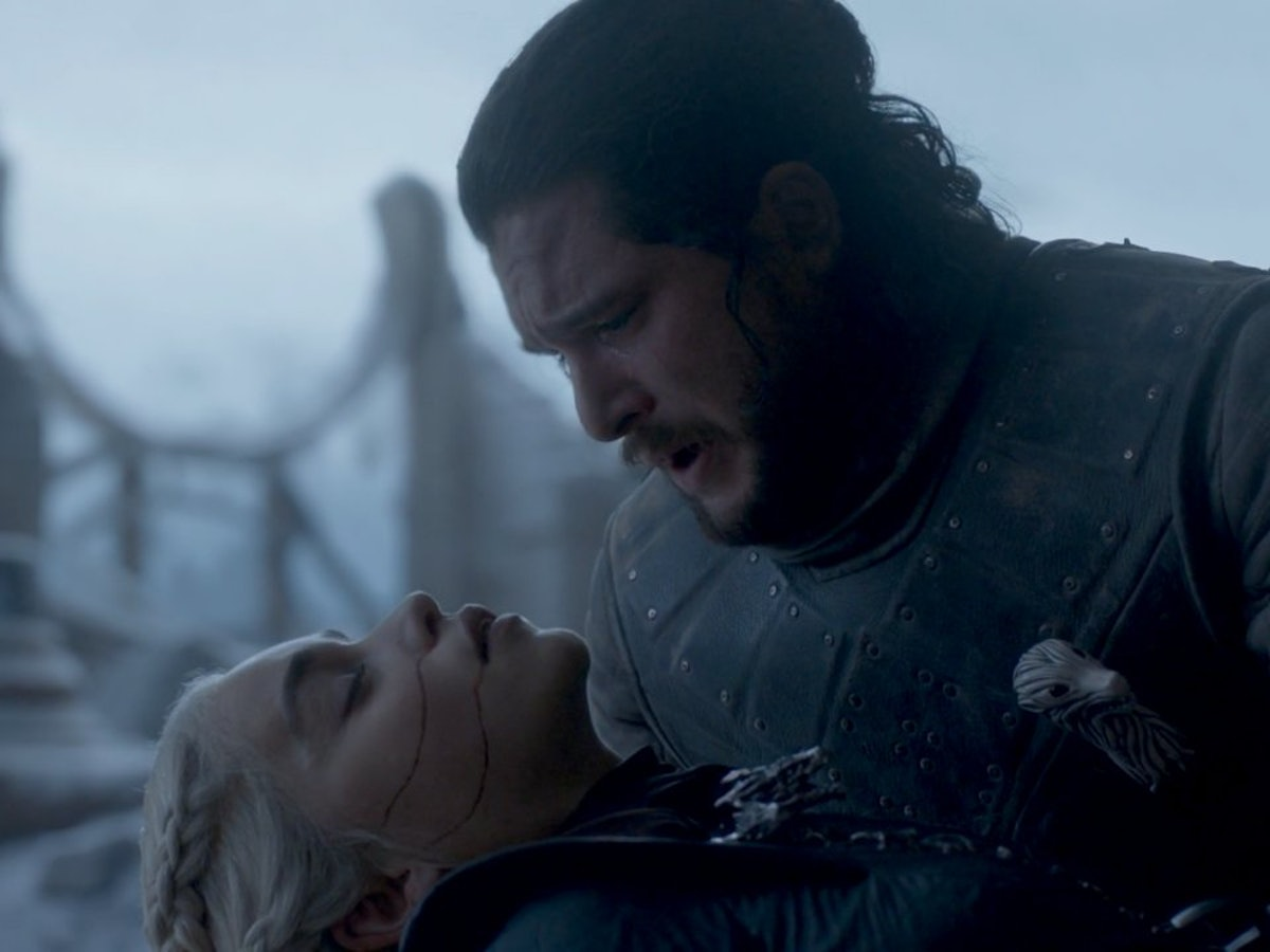 Dany and Jon Snow in the 'Game of Thrones' series finale