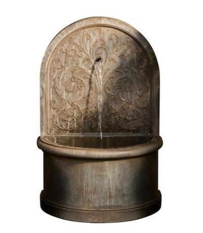"40.5"" Corsini Wall Fountain, Limestone"