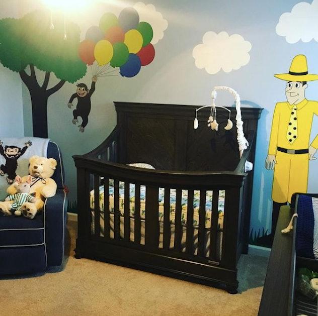 Curious George nursery room