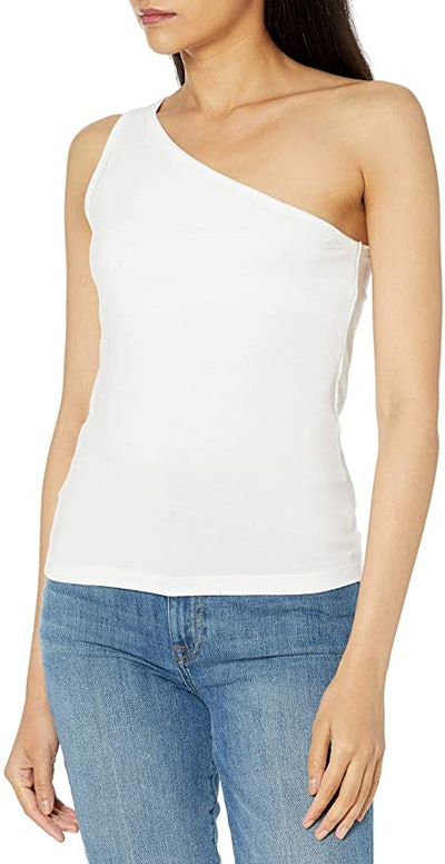 The Drop Payton Asymmetric Fitted One-Shoulder Top