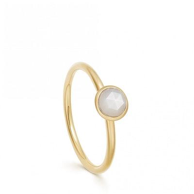 Mini Stilla Moonstone Ring in Yellow Gold Vermeil
