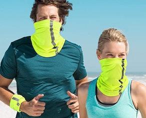 SATINIOR Neck Gaiter Visibility Reflective Safety Bandana (4-Pack)