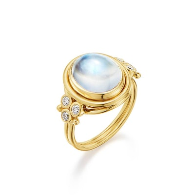 18K Classic Temple Ring