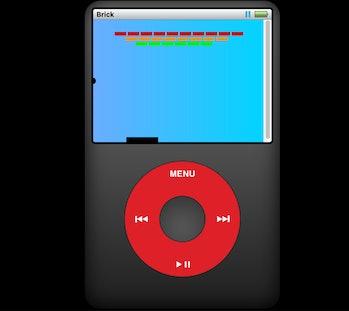 Tanner Villerete iPod click wheel Brick game screenshot