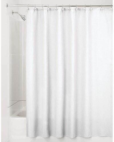 mDesign Waffle Weave Shower Curtain
