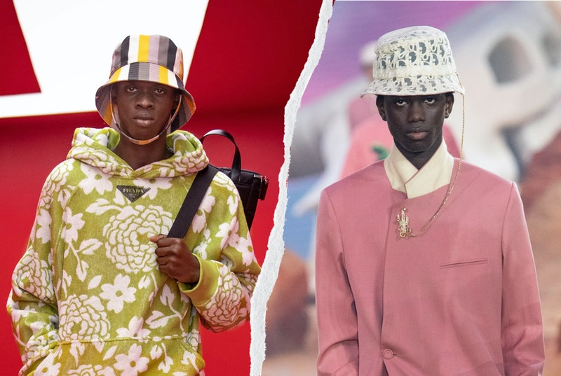 From Prada to Dior, see the '90s headwear trend that was all over the Spring 2022 runways at Men's Fashion Week.