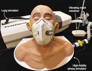human aspiration dummy pathogen sensor