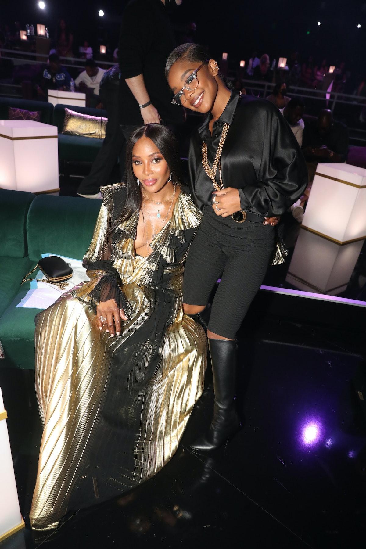 Naomi Campbell and Marsai Martin at the 2021 BET Awards