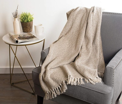 Dll Rustic Cotton Throw Blanket