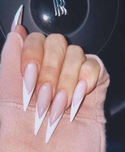 khloe kardashian french manicure