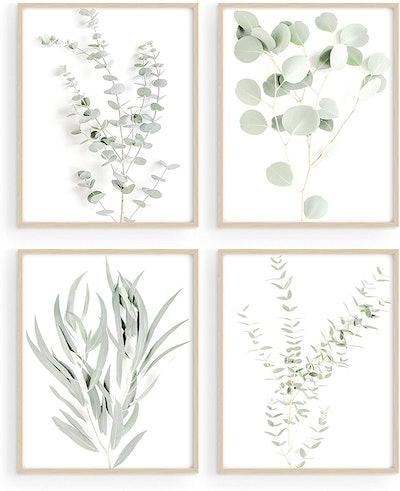 Haus and Hues Botanical Wall Art (Set of Four)
