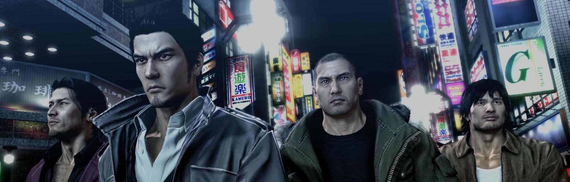A screenshot from Yakuza 4