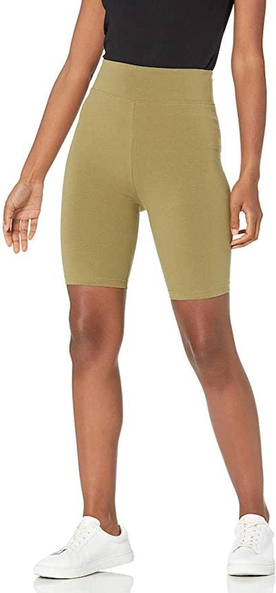 The Drop Jeannie High Rise Mid Length Bike Shorts
