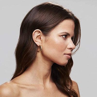 PAVOI 14K Gold-Plated Chunky Hoop Earrings