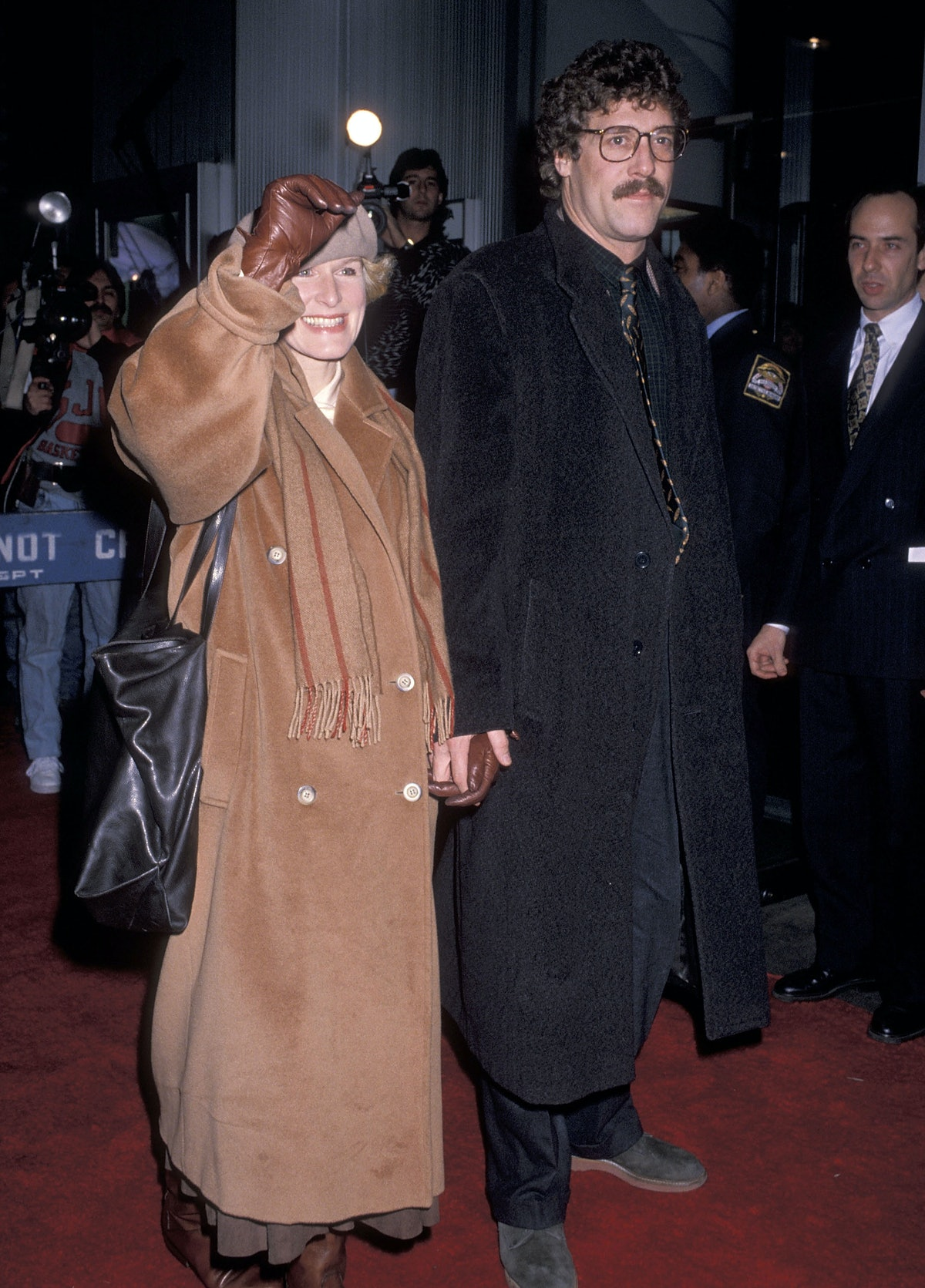 Glenn wearing a brown coat