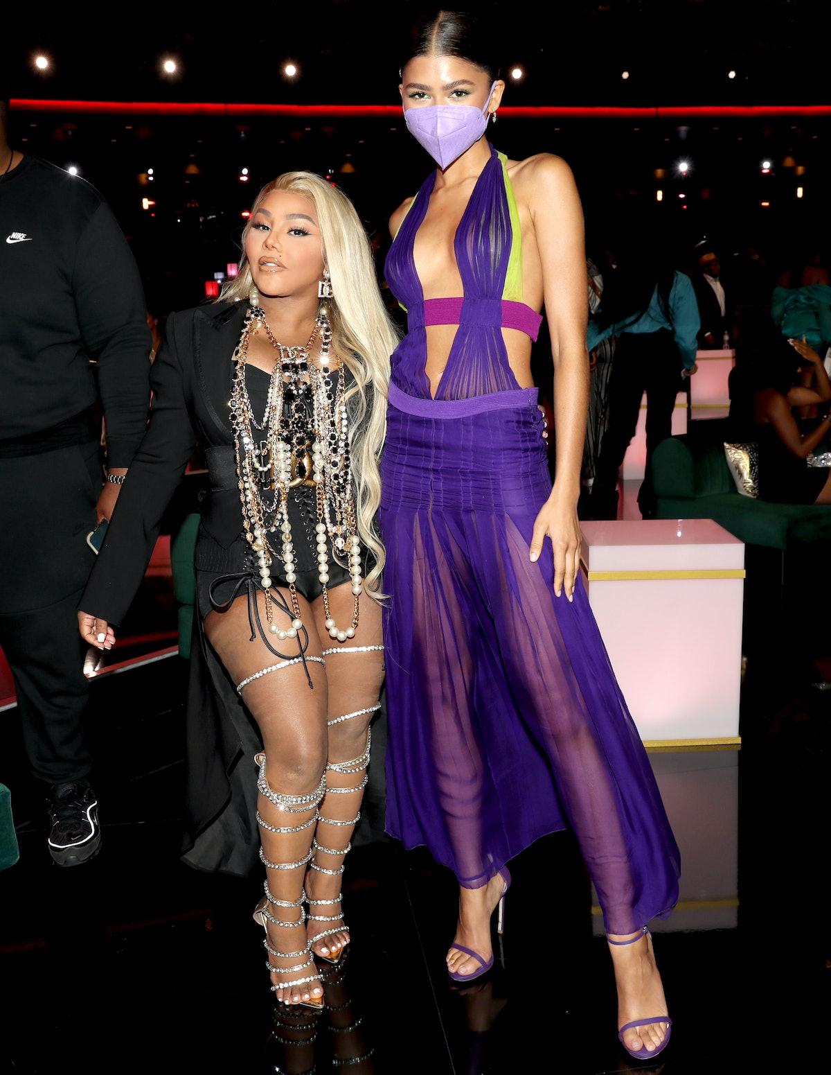 Lil Kim and Zendaya at the 2021 BET Awards