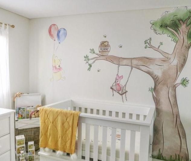 Winnie the Pooh nursery mural