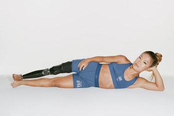Scout Bassett, Team USA Track and Field, in Skims Olympics collection