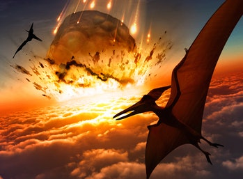 Dinosaurs see asteroid event