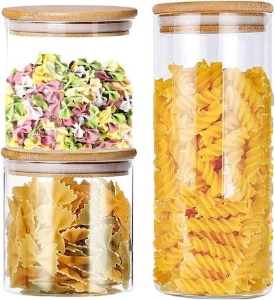Monstleo Glass Storage Jars (Set of 3)