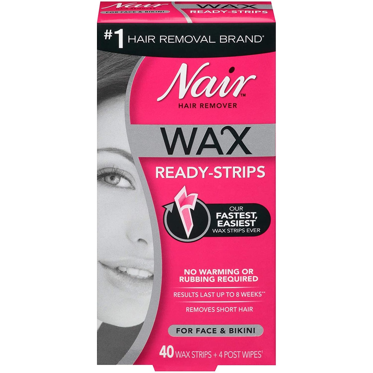 Nair Hair Remover Wax Ready-Strips (40-Count)
