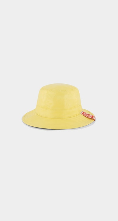 Yellow Ostrich Kezup Hat