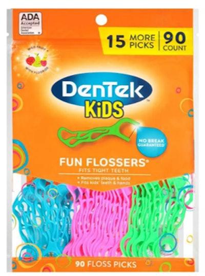 DenTek Kids Fun Flossers Floss Picks for Kids - 90ct