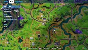 fortnite clue location 1 map