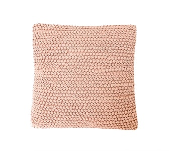 Pink Knotted Texture Cotton Pillow