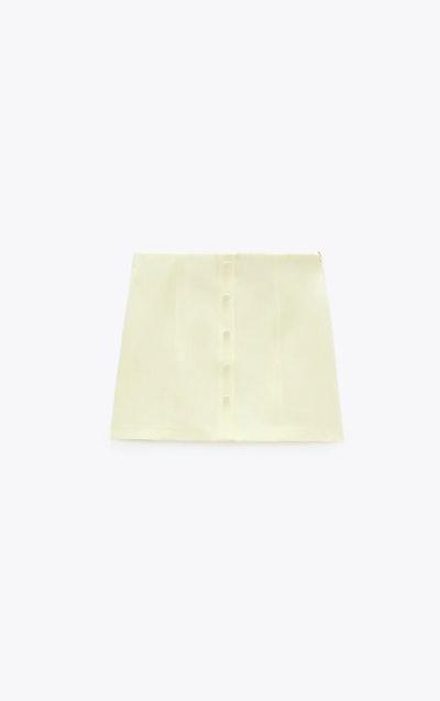 Linen Blend Miniskirt