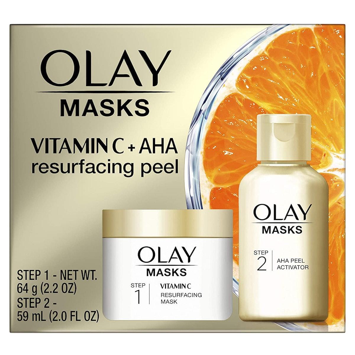 Olay Vitamin C Mask + AHA Resurfacing Peel