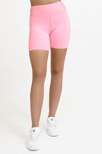Ocean Breeze Biker Short In Sunburst Pink