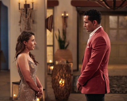 Katie Thurston eliminating Thomas in the Week 4 rose ceremony of her 'Bachelorette' season.