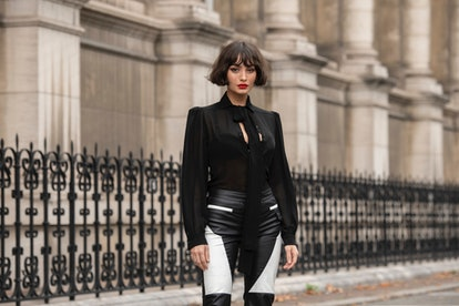 Taylor LaShae in a signature French bob with curtain bangs.
