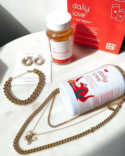 Love Wellness multivitamins on table