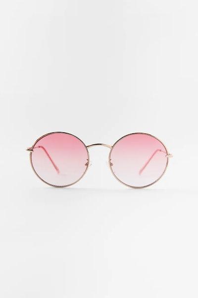 Round Sunglasses Purple Magazine