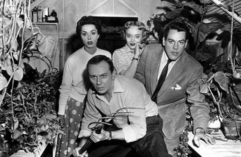 Still from the greenhouse scene in 1956's Invasion of the Body Snatchers