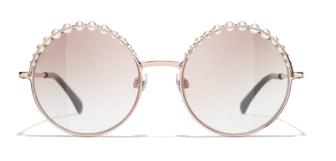 Round Sunglasses Pink Gold
